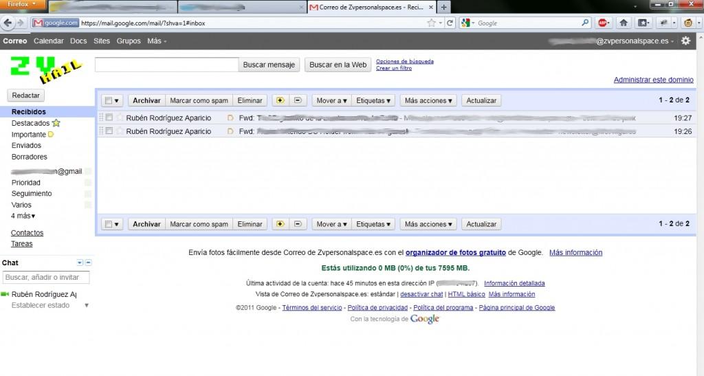 Gmail de ZVPersonalSpace