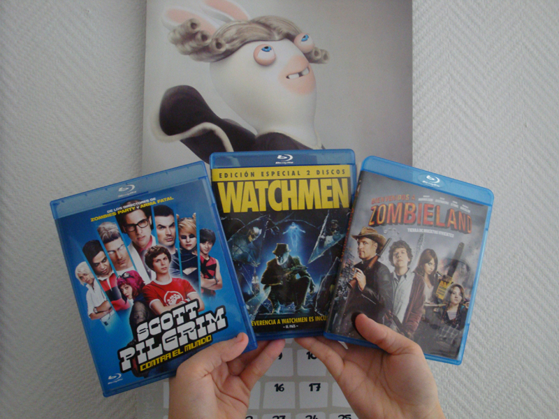 Peliculas Blu-ray: Scott Pilgrim, Watchmen y Zombiland